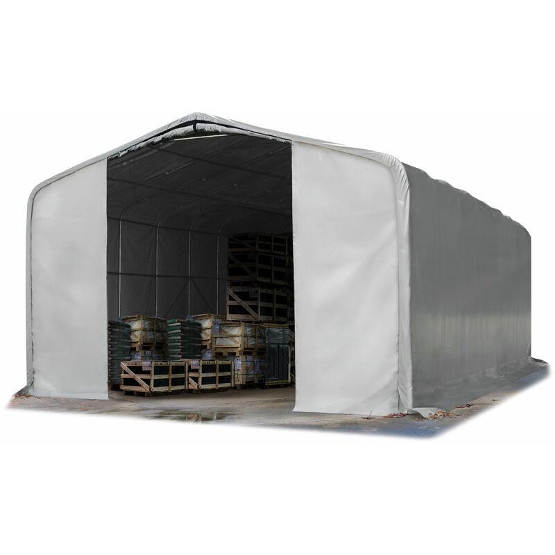 Intent24.fr - 8x12m hangar INTENT24, porte 4,0x4,7m, toile PVC d'env. 550g/m²