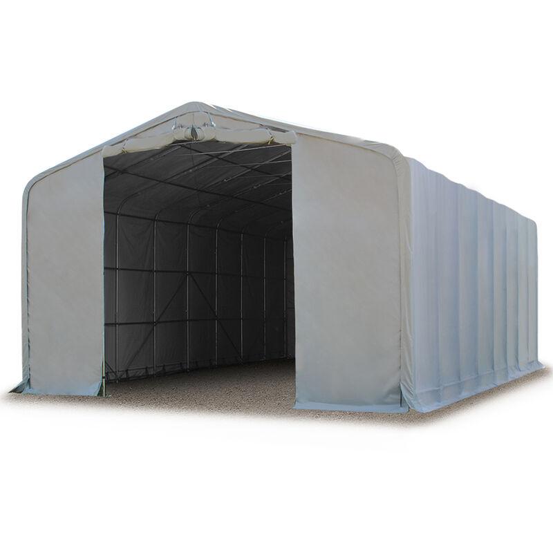 Intent24.fr - 8x24m hangar INTENT24, porte 4,0x4,7m, toile PVC d'env. 550g/m²