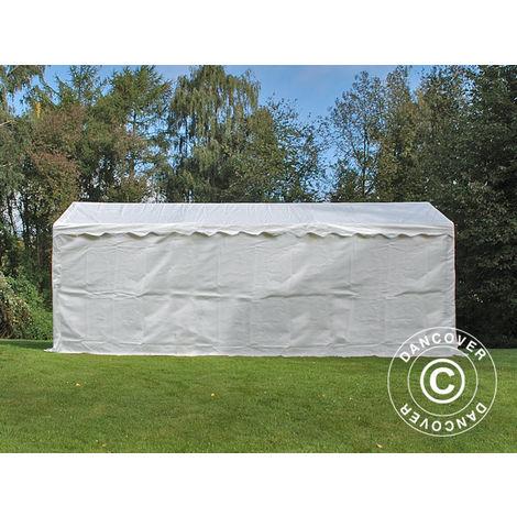 Tente de stockage Tente Abri Basic 2-en-1, 3x6m PE, blanc