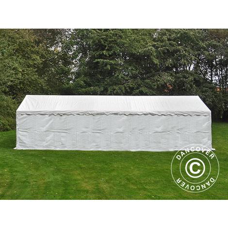 Tente de stockage Tente Abri Basic 2-en-1, 5x10m PE, blanc