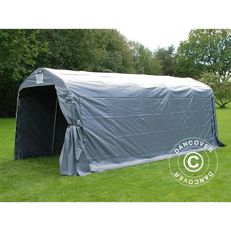 Tente de stockage Tente Abri PRO 2,4x6x2,34m PVC, Gris