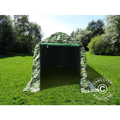 Tente de stockage Tente Abri PRO 2x3x2m PVC, Camouflage