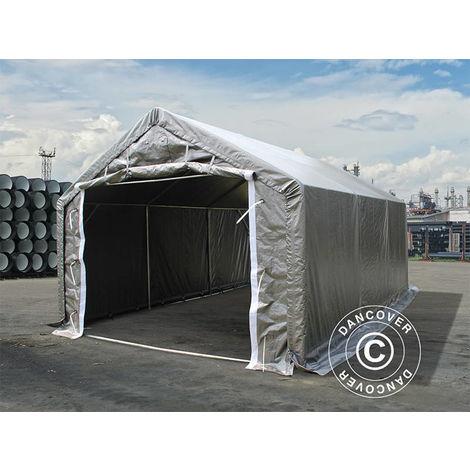 Tente de Stockage Tente Abri PRO 4x6x2x3,1m, PE, Gris