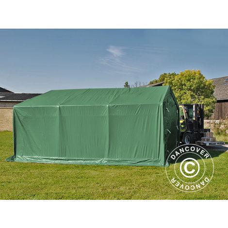 Tente de Stockage Tente Abri PRO 4x6x2x3,1m, PVC, Vert