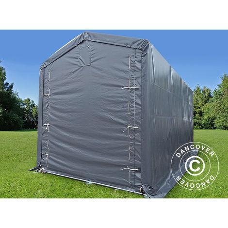 Tente de Stockage Tente Abri PRO XL Abri bateau 3,5x8x3,3x3,94m, PE, Gris