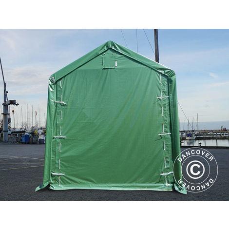 Tente de Stockage Tente Abri PRO XL Abri bateau 4x10x3,5x4,59m, PVC, Vert