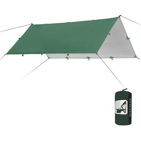 Tente D'Ombrage 3.2X3M, Bache Etanche, Auvent De Camping Pliable, Auvent De Plage Ultra Leger (Sans Accessoires), Vert Armee