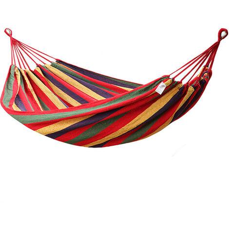 Tente extérieure légère de lit double de hamac suspendu de camping de voyage de deux personnes 2 rouge Hamac rouge 280x100cm