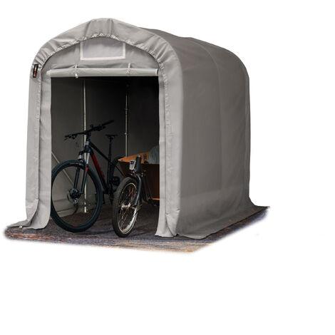 Tente-garage carport 1,6 x 2,4 m d'élevage abri agricole tente de stockage bâche env. 550g/m² armature solide gris