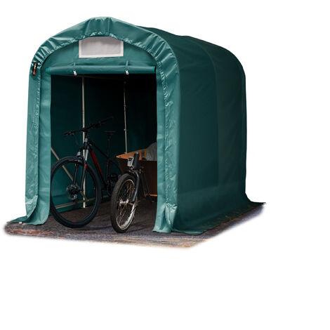 Tente-garage carport 1,6 x 2,4 m d'élevage abri agricole tente de stockage bâche env. 550g/m² armature solide vert fonce