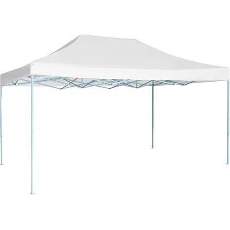 Tente pliable de réception 3 x 4,5 m Blanc