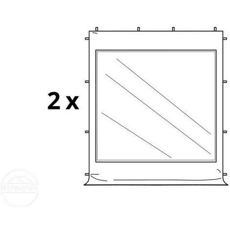Tente Pliante 3x3 m - 2 côtés Aluminium Barnum Chapiteau Pliant Tonnelle Stand Paddock Réception Abri blanc