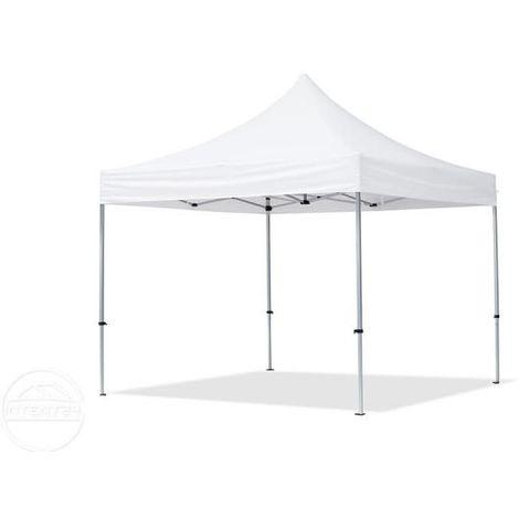 Tente Pliante 3x3 m - 4 côtés Aluminium Barnum Chapiteau Pliant Tonnelle Stand Paddock Réception Abri blanc