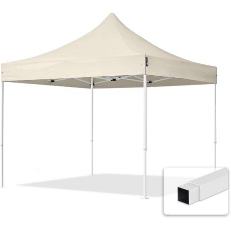 """main image of """"Tente Pliante 3x3 m - Acier Barnum Chapiteau Pliant Tonnelle Stand Paddock Réception Abri crème"""""""