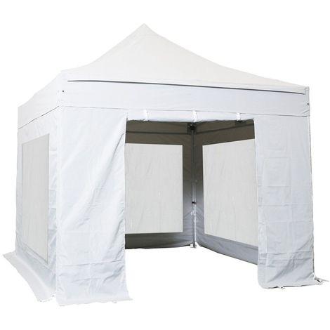 Tente pliante 3x3m Pack Cristal Acier 32mm Polyester pelliculé PVC 300g/m²