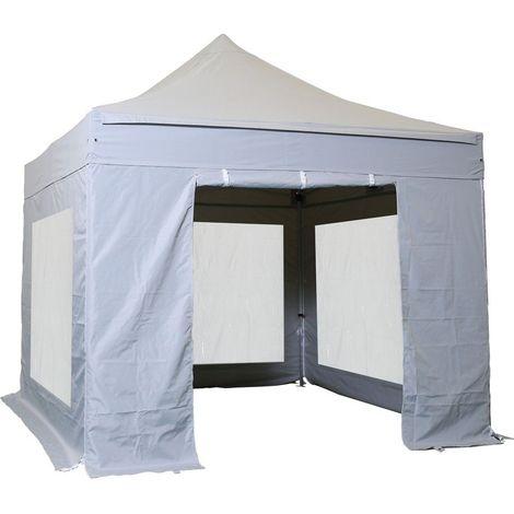 Tente pliante 3x3m Pack Cristal Alu 40mm Polyester pelliculé PVC 300g/m²