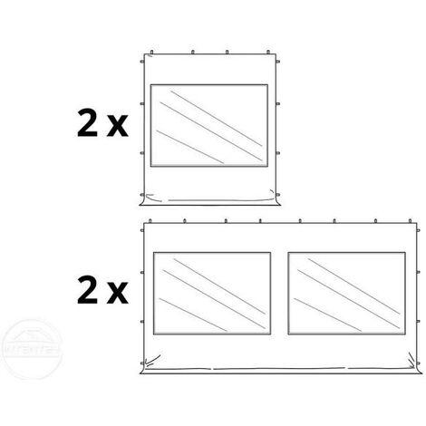 Tente Pliante 3x6 m - 4 côtés Aluminium Barnum Chapiteau Pliant Tonnelle Stand Paddock Réception Abri mauve