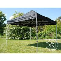 Tente pliante Chapiteau pliable Tonnelle pliante Barnum pliant FleXtents Basic v.2, 2x2m Noir