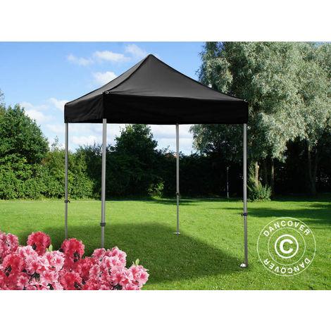 Tente pliante Chapiteau pliable Tonnelle pliante Barnum pliant FleXtents PRO 2x2m Noir