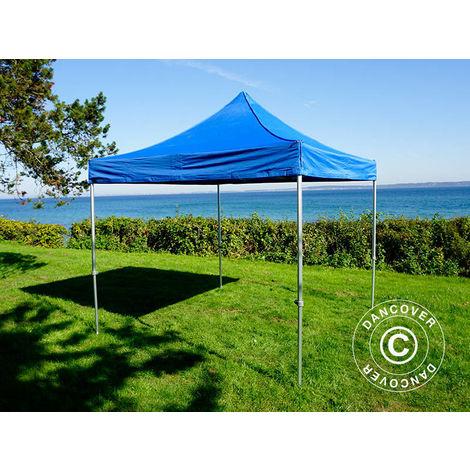 Tente pliante Chapiteau pliable Tonnelle pliante Barnum pliant FleXtents PRO 3x3m Bleu