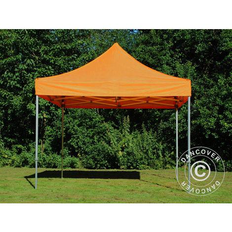 Tente pliante Chapiteau pliable Tonnelle pliante Barnum pliant FleXtents PRO 3x3m Orange