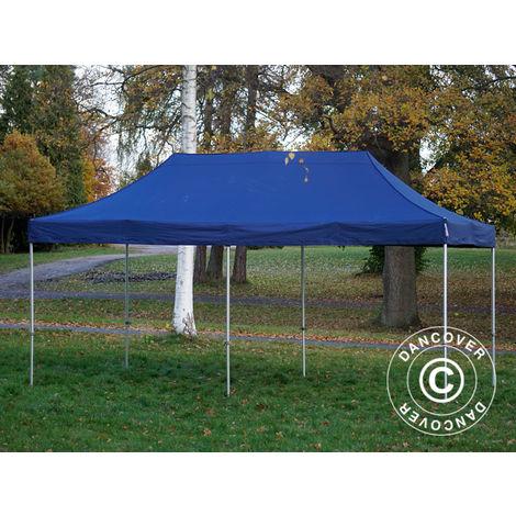 Tente Pliante Chapiteau pliable Tonnelle pliante Barnum pliant FleXtents PRO 3x6m Bleu foncé