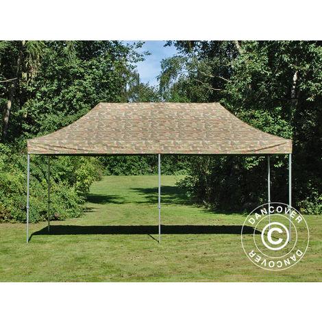 Tente Pliante Chapiteau pliable Tonnelle pliante Barnum pliant FleXtents PRO 3x6m Camouflage