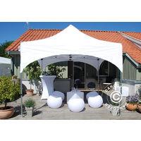 Tente Pliante Chapiteau Pliable Tonnelle Pliante Barnum Pliant Flextents Pro Arched 3x3m Blanc