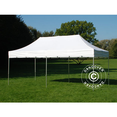 """Tente Pliante Chapiteau pliable Tonnelle pliante Barnum pliant FleXtents PRO """"Peaked"""" 3x6m Blanc"""
