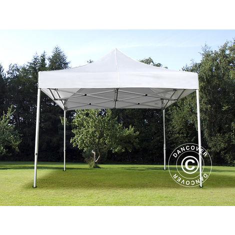 Tente pliante Chapiteau pliable Tonnelle pliante Barnum pliant FleXtents Xtreme 50 3x3m Blanc, avec 4 cotés