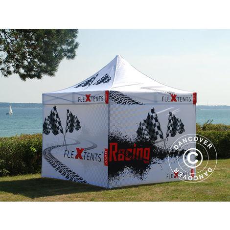 Tente pliante Chapiteau pliable Tonnelle pliante Barnum pliant FleXtents Xtreme 50 Racing 3x3m, Edition limitée