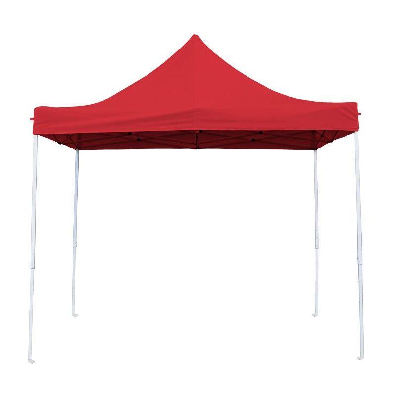 Interouge - Tente Pliante Tonnelle de jardin 3x3m en Polyester 180g/m² + sac de transport | ROUGE - Rouge