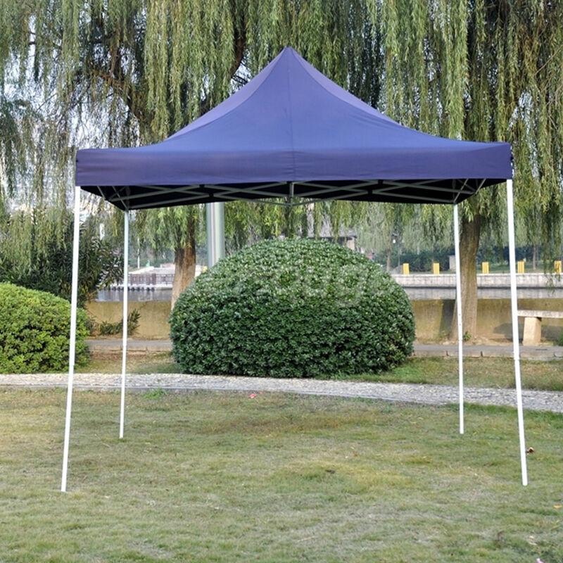 Tente Pliante Tonnelle de jardin 3x3m en Polyester 180g/m² traitée antigel + sac de transport   BLEU - INTEROUGE