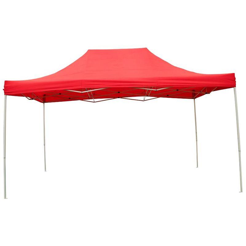 Interouge - Tente Pliante Tonnelle de jardin 3x4,5m en Polyester 180g/m² + sac de transport | ROUGE - Rouge