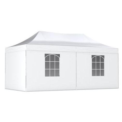 Tente Pliante légère Tonnelle ECON. 3x6m en Polyester 180g/m² traitée antigel