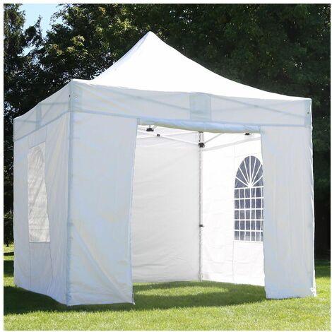 Tente pliante pro 3x3 m et 4 murs + poids de lestage