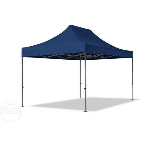 Tente pliante tente pliable 3x4,5m - sans fenêtre PROFESSIONAL toit 100% imperméable tente de jardin pavillon bleu