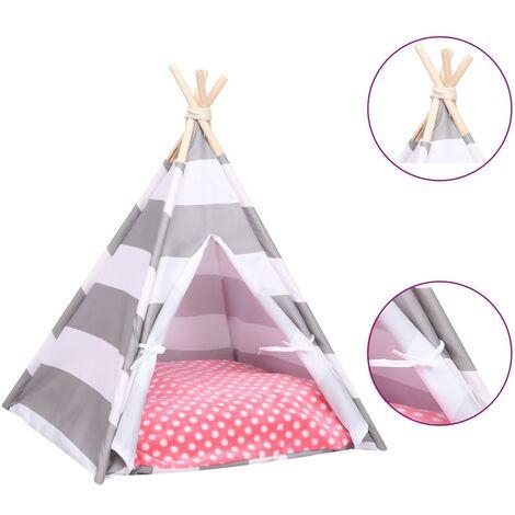 Tente pour chats avec sac Peau de pêche Rayures 60x60x70 cm