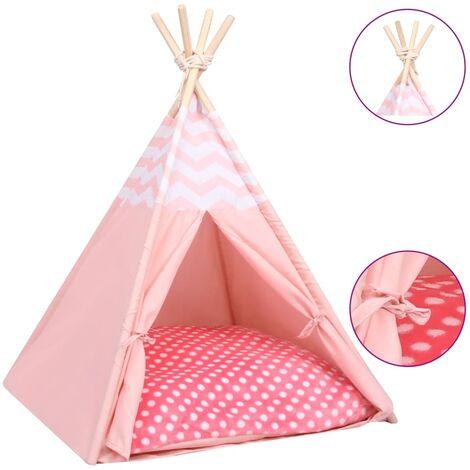 Tente pour chats avec sac Peau de pêche Rose 60x60x70 cm