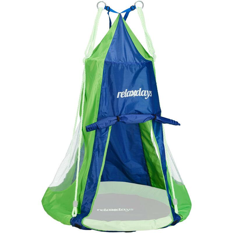 Tente pour balançoire en nid revêtement Housse à suspendre accessoire jardin,bleu-vert, 90 cm