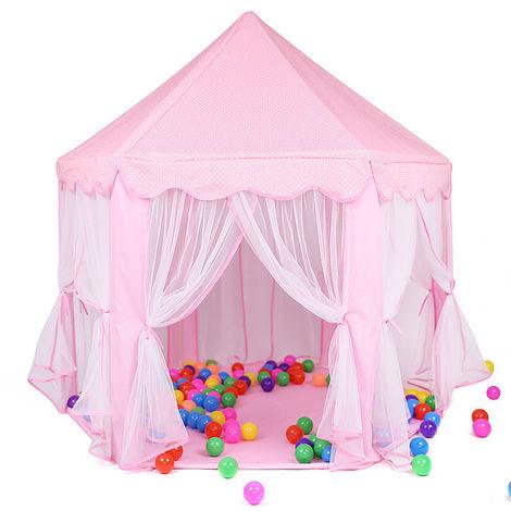 Tente Princesse Enfant Tente De Jeu Pliable Avec Lumière LED