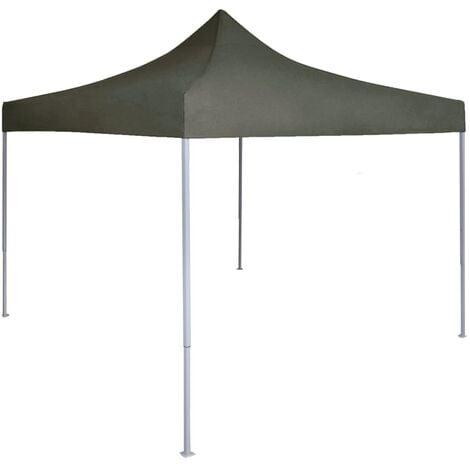 Tente réception pliable professionnelle 2x2 m Acier Anthracite