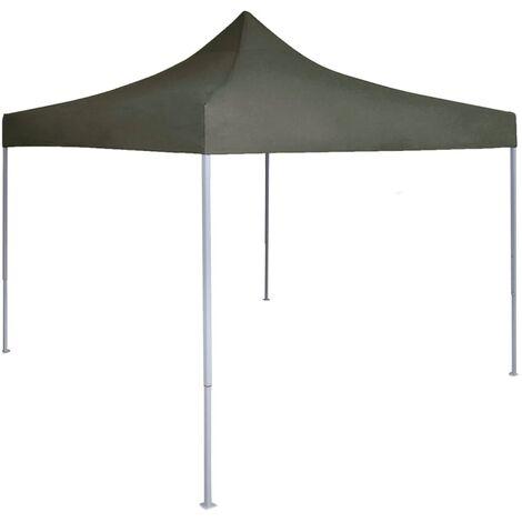 Tente reception pliable professionnelle 2x2 m Acier Anthracite