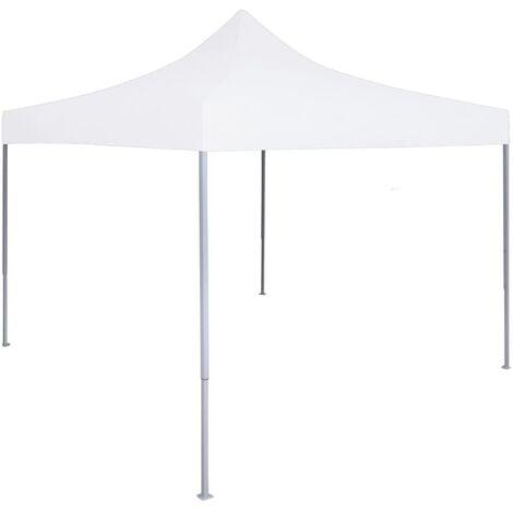 Tente réception pliable professionnelle 2x2 m Acier Blanc