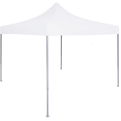 Tente reception pliable professionnelle 2x2 m Acier Blanc