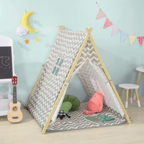 Tente Tipi Enfant pour Garçon et Fille Teepee Tente de Jeu OSS02-HG SoBuy®