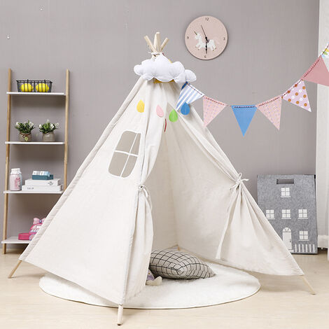 Tente Tipi Pour Enfants Tente De Jeu Indian Maison Jardin 100x100x135cm