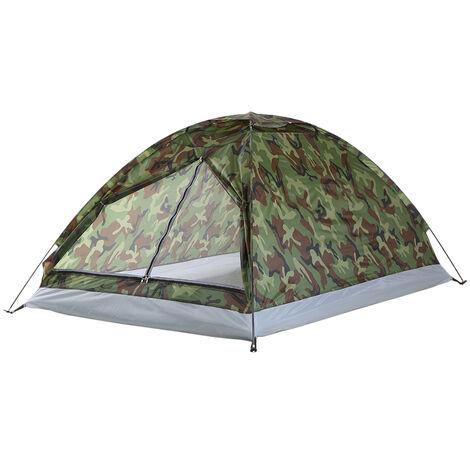 Tente, TOMSHOO double tente de camouflage simple couche exterieure double tente
