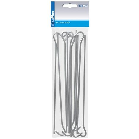 Tentpeg 25cm metal with open eye 10 pieces in polybag