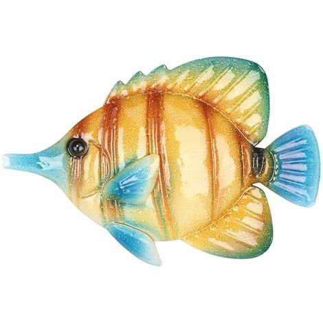 Tenture Murale Poisson Tropical, Decoration Murale En Fer, 10,2 ""